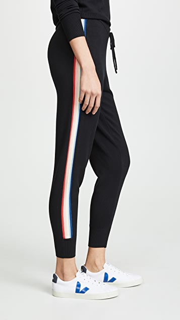 Spiritual Gangster Striped Joggers