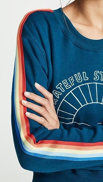 Spiritual Gangster Grateful 短款圆领运动衫
