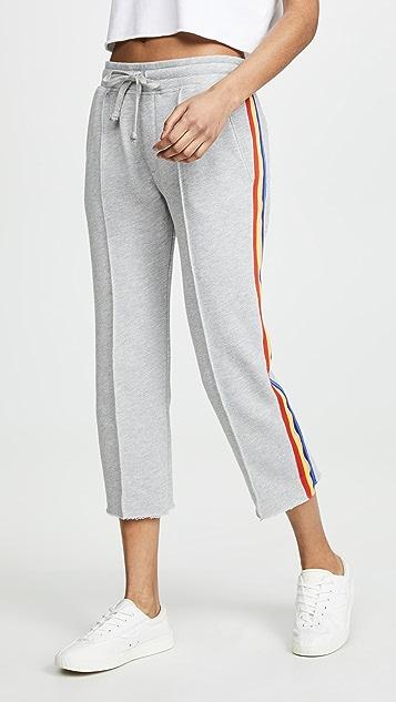 Spiritual Gangster Cropped Essential Sweatpants - Medium Heather Grey