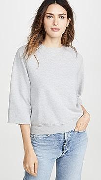 Maya Cut Off Crew Sweatshirt