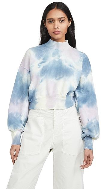 Spiritual Gangster Black Mock Neck Sweatshirt
