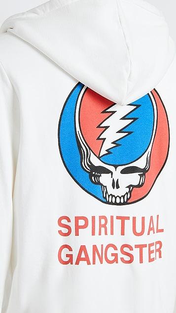 Spiritual Gangster x Grateful Dead Lightning Skull Hoodie