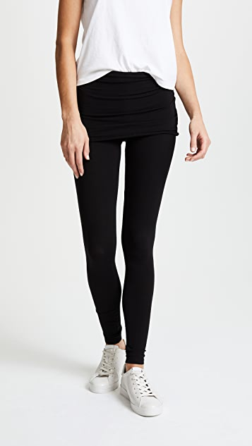 Splendid Fold Over Leggings - Black