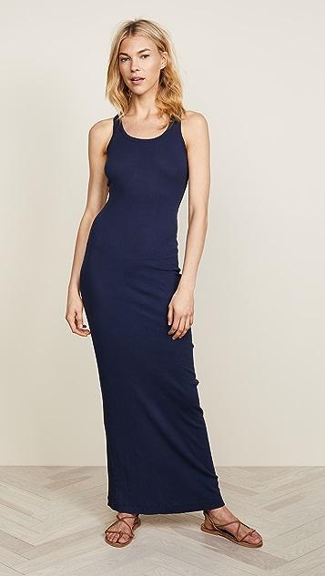 Splendid 条罗纹长连衣裙