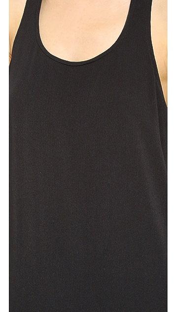 Splendid Crinkle Gauze Mini Dress