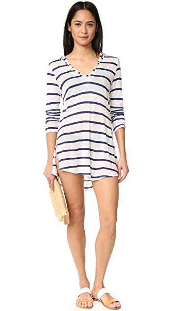 Splendid Striped Hooded Tunic