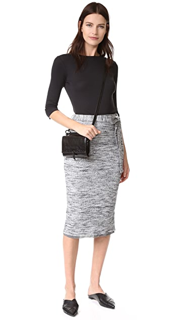 Splendid Space Dye Rib Skirt