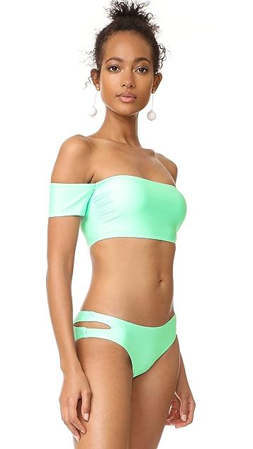 Splendid Sunsational Off Shoulder Bikini Top