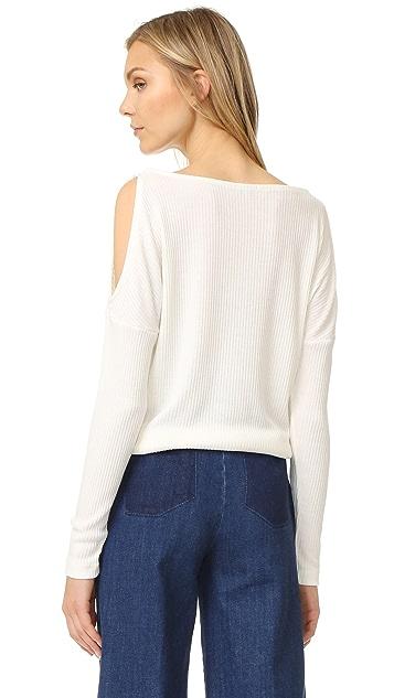 Splendid Cold Shoulder Sweater
