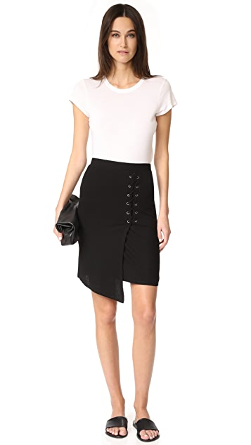 Splendid Lace Up Skirt