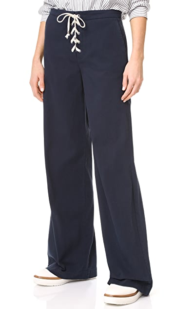 Splendid Lace Up Pants