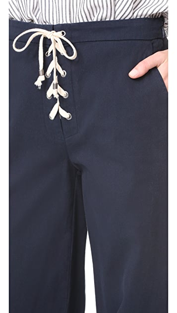 Splendid Lace Up Pants