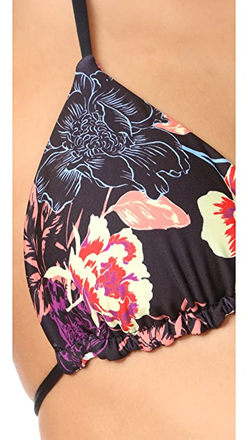 Splendid Electric Bloom Bikini Top