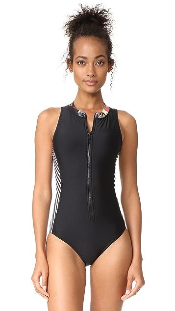 Splendid Electric Bloom Swimsuit