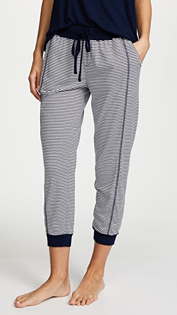 Splendid Always Stripe Crop Pj Pants