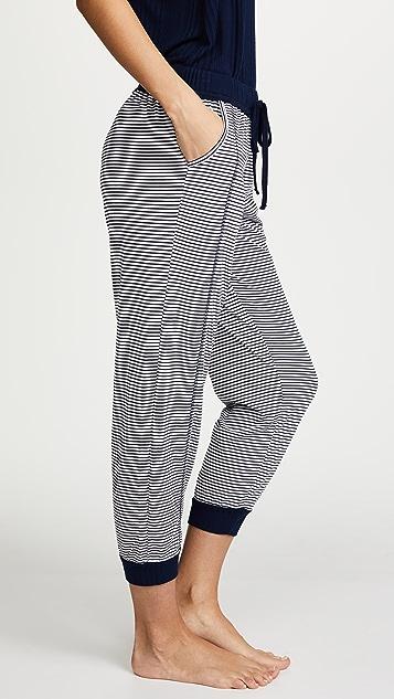 Splendid Always 条纹短睡裤