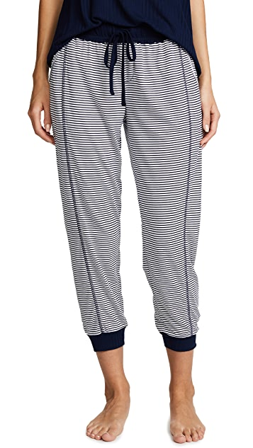 Splendid Always Stripe Crop PJ Pants