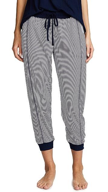 Splendid Укороченные пижамные брюки в полоску Always