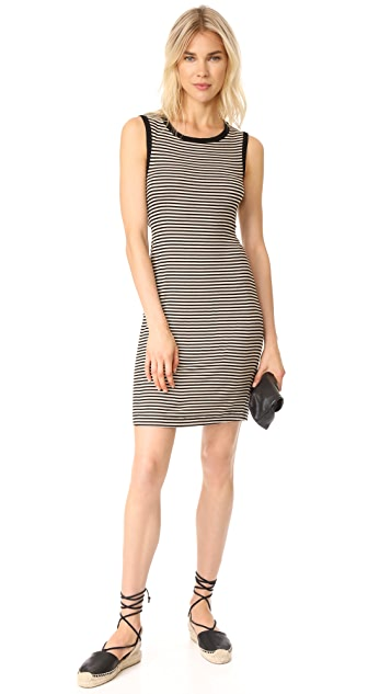 Splendid Striped Ribbed Dress