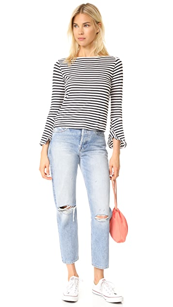 Splendid French Stripe Bell Sleeve Top