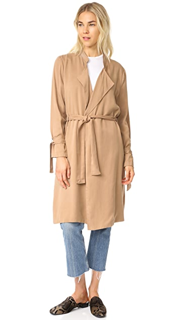 Splendid Sandwash Twill Trench Coat