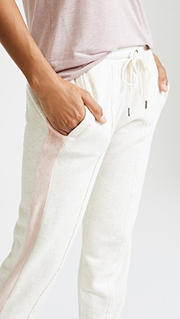 Splendid Colorblock Velour Pants