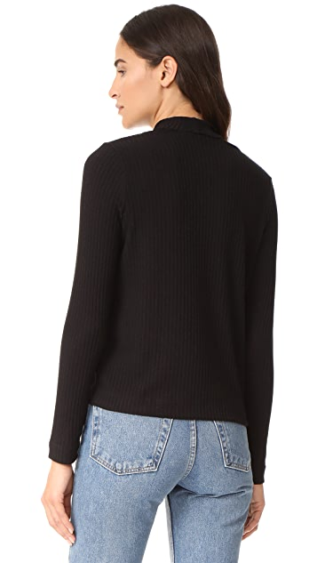 Splendid Melange Sylvie Rib Shirt
