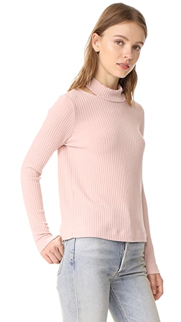 Splendid Sylvie Rib Long Sleeve Shirt