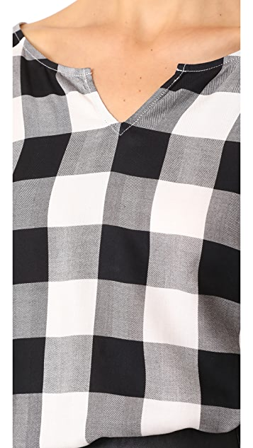 Splendid Buffalo Check Blouse