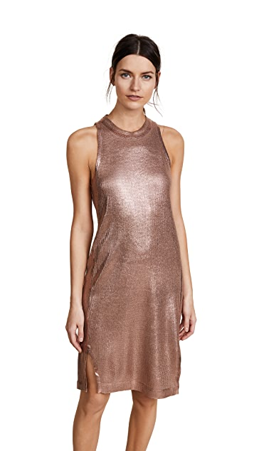 Splendid Astor Metallic Coated Knit Dress