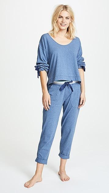 Splendid Укороченный пижамный топ в стиле свитера
