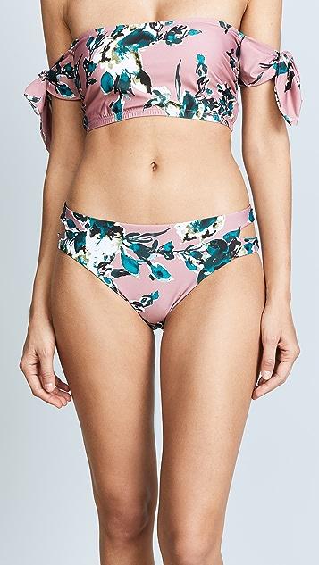 Splendid Reversible Keyhole Bikini Bottoms