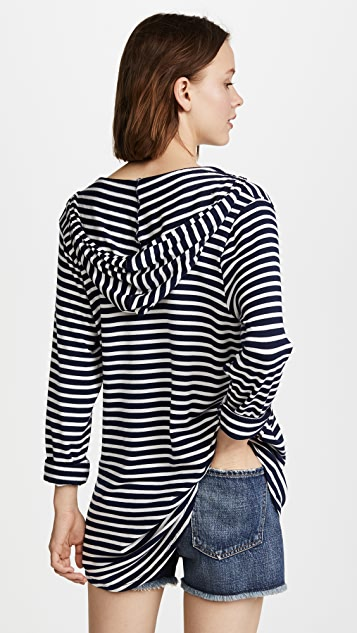 Splendid Stripe Covers Hoodie Tunic