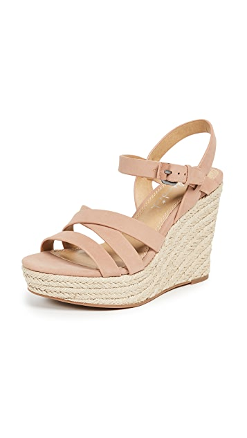 Splendid Billie Strappy Wedge Espadrilles
