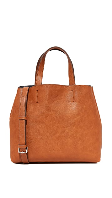 Splendid Reversible Mini Tote - Cognac