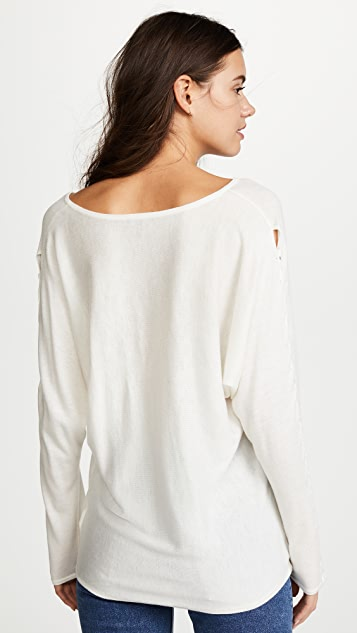 Splendid Nassau Lace-Up Sweater