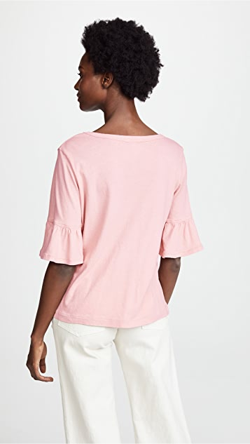 Splendid Short Sleeve Flutter Tee