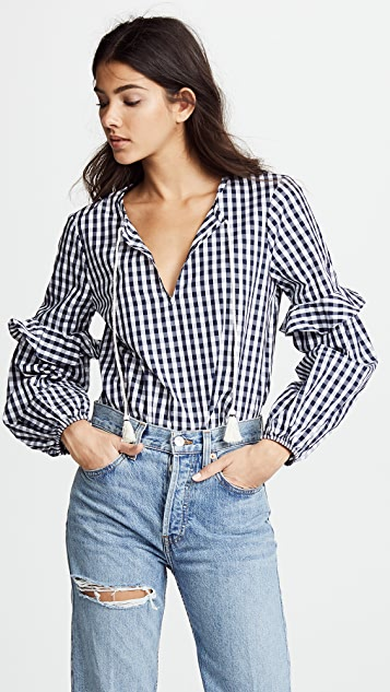 Splendid Gingham Blouse