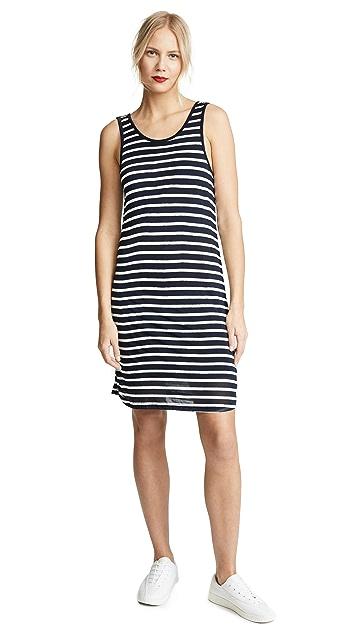 Graph Linen Stripe Dress in Blue. - size M (also in L,S,XS) Splendid