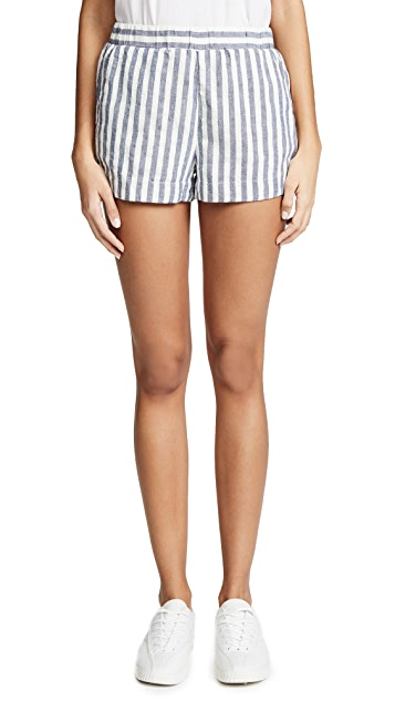 Splendid Linen Blend Stripe Shorts