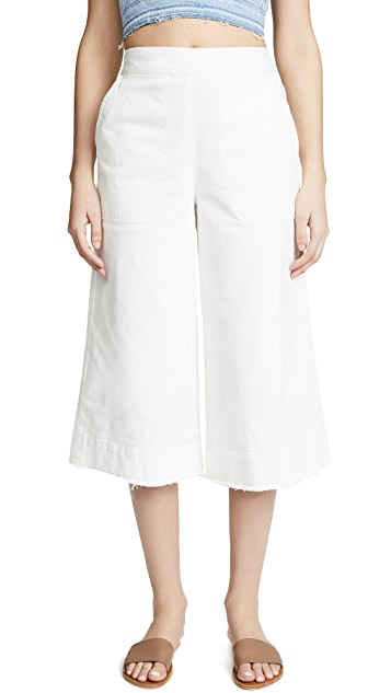 Splendid Cotton Twill High Waisted Pants