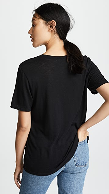 Splendid Cotton Modal Slub V Tee