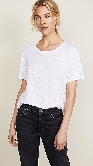 Splendid 竹节纹圆领 T 恤