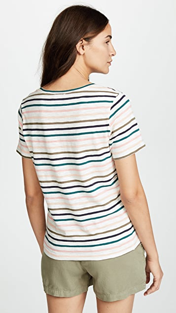 Splendid Sunset Stripe Tee
