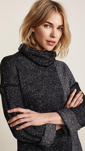 Splendid Morrow Cowl Loose Knit Sweater