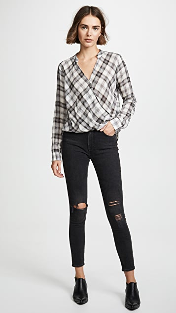 Splendid Willow Plaid Blouse