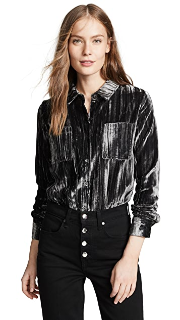 3655b5f95 Splendid Moonstone Velvet Button Down Shirt | SHOPBOP