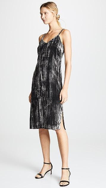 Splendid Moonstone Velvet Slip Dress