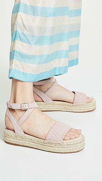 Splendid Seward 编织底坡跟绑带凉鞋