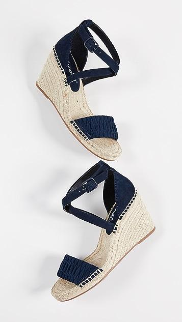 Splendid Sheri 梭织坡跟绑带凉鞋